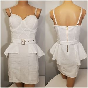 NWOT Entry White Sexy Mini Dress Size Large